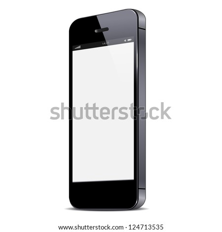 Vector smartphone isolated on white background - stock vector