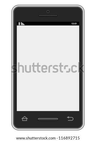 Vector Smartphone - Realistic vector smartphone design.  File is isolated on white background.