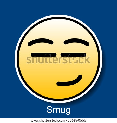 What does smugly mean