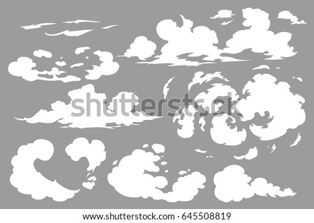 White Cigarette Smoke Waves On Transparent Stock Vector 606002873 ...