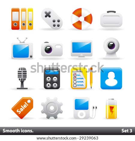 Vector smooth icons. Set3.