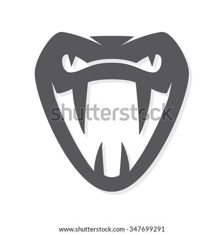 Vector snake logo template.  Viper head symbol or icon - stock vector