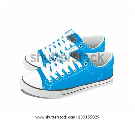 Vector sneakers - stock vector