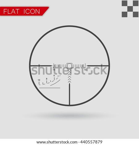 Vector sniper black finder target illustration - stock vector
