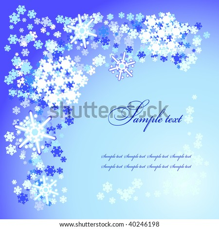 vector snow flakes background for greetings card