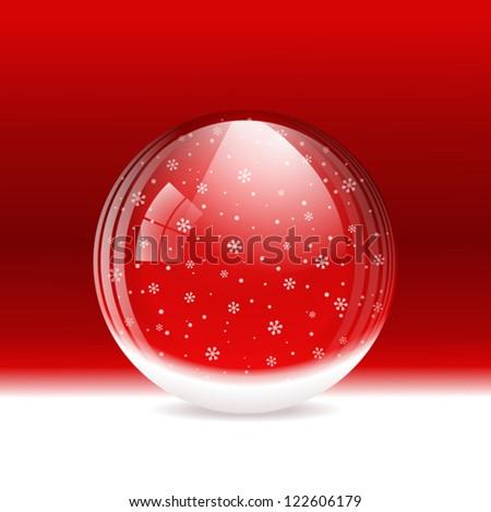 Vector snow globe. Layered - stock vector