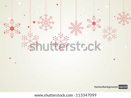 Vector snowflake background. - stock vector