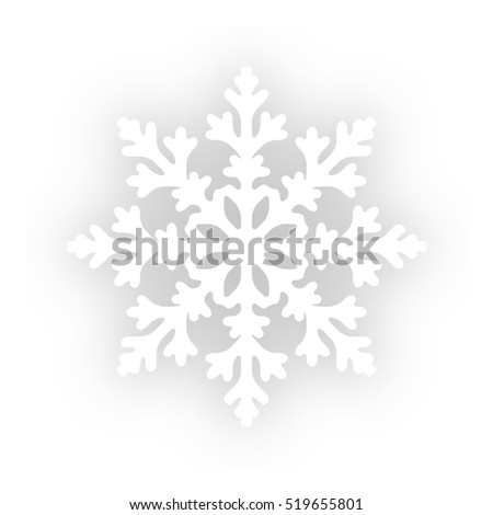 Vector Snowflake on white background. illustration.