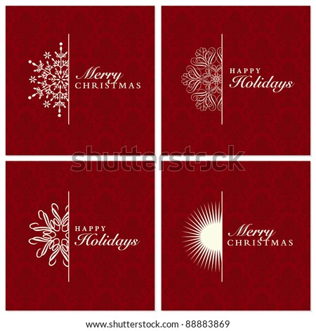 Vector Snowflake Ornament Set. Easy to edit. Perfect for invitations or announcements. - stock vector
