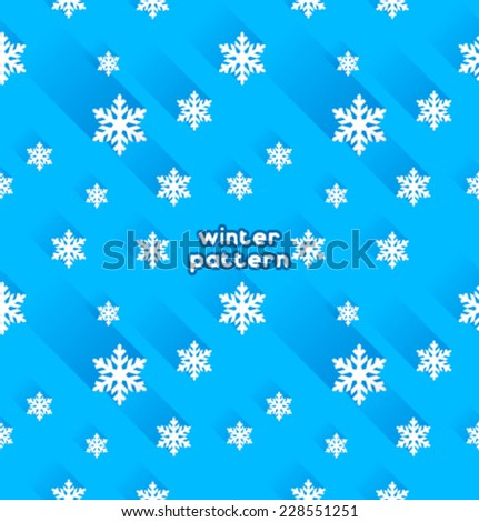 Vector snowflake pattern - stock vector