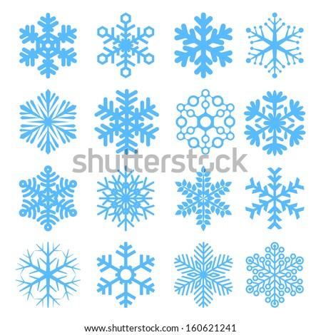 Vector snowflakes. - stock vector