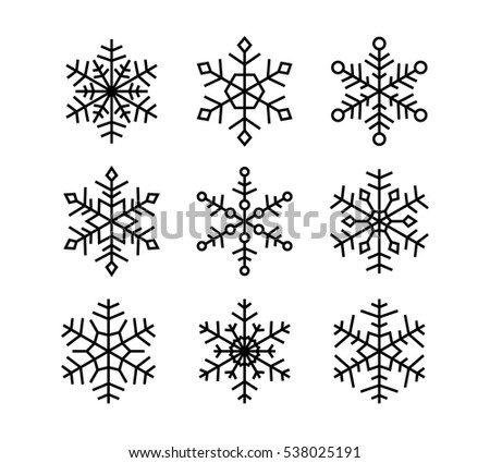 Vector snowflakes collection.