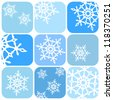 Vector snowflakes pattern - stock vector