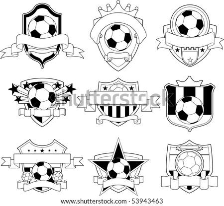 Vector soccer badge - stock vector
