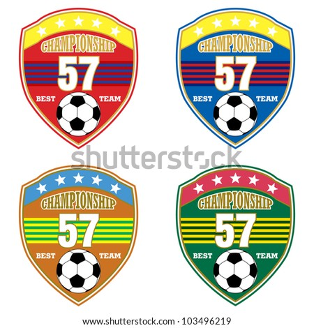 Vector soccer badge / Vector soccer labels