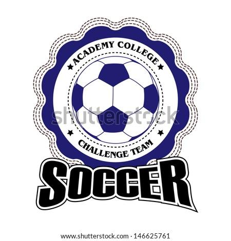 Vector soccer badge / Vector soccer labels / Soccer emblems / Football badge  - stock vector