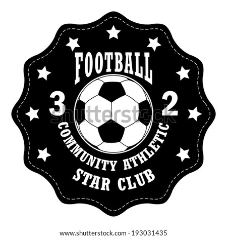 Vector soccer badge / Vector soccer labels / Soccer emblems / Football badge / Vector Soccer ( T-shirt Printing Design )  - stock vector
