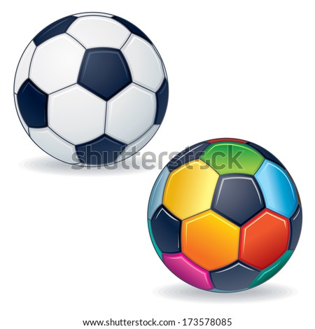 Vector Soccer Ball - stock vector