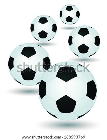 Vector Soccer ball / Vector football  - stock vector