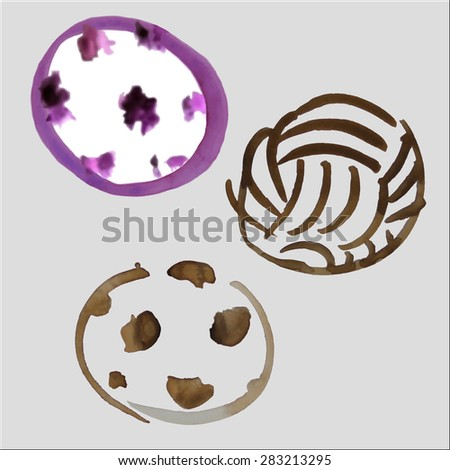 Vector soccer balls drawing with watercolor. - stock vector