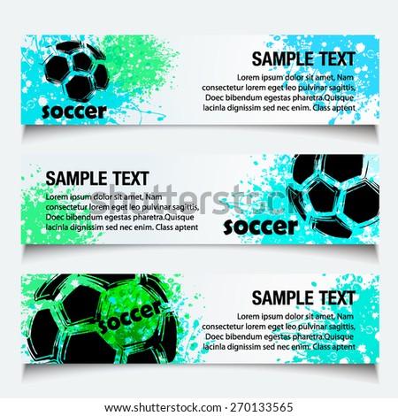 Vector Soccer banner with gauge design ( Even Soccer Banner Design )  - stock vector
