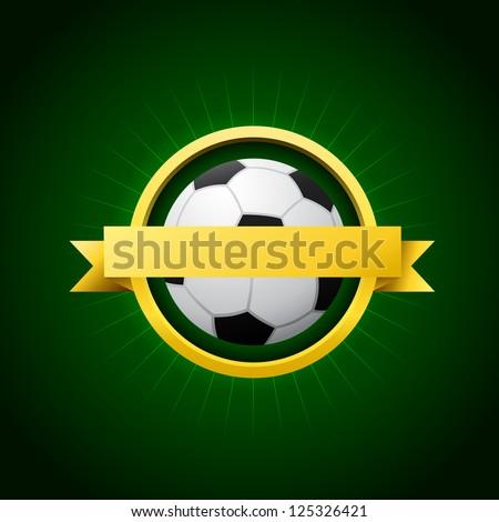 Vector Soccer Emblem - stock vector