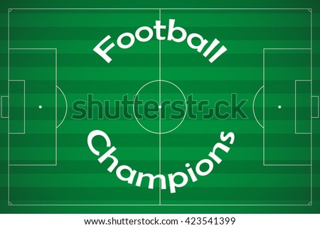 Vector soccer or football poster. - stock vector