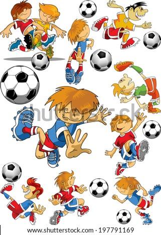 Vector Soccer player design, Football Background, Vector sport design - stock vector