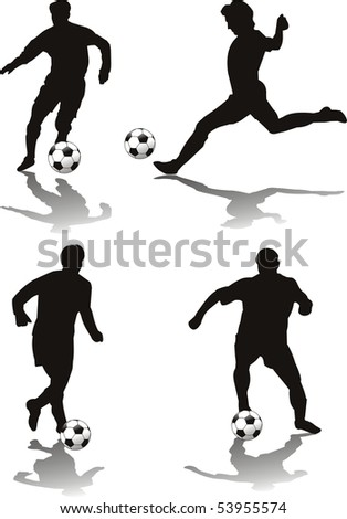 vector soccer player isolated o withe - stock vector