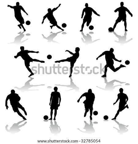 vector soccer players