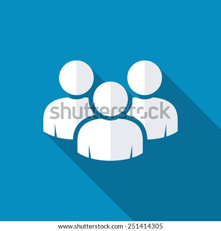 Vector social network button. Users icon design element - stock vector