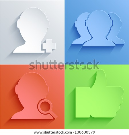 Vector social Network icon set backgrounds. Eps10 - stock vector