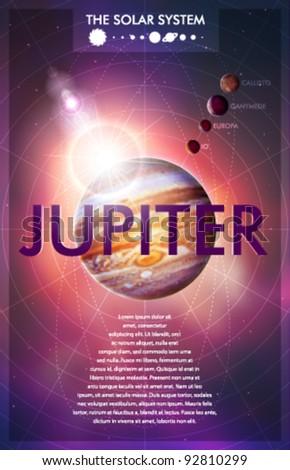 Vector Solar System - Planet Jupiter - stock vector
