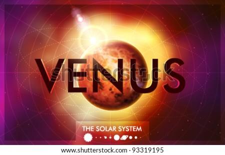 Vector Solar System - Planet Venus - stock vector