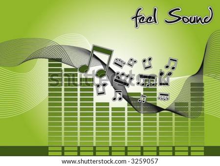 Vector Sound - stock vector