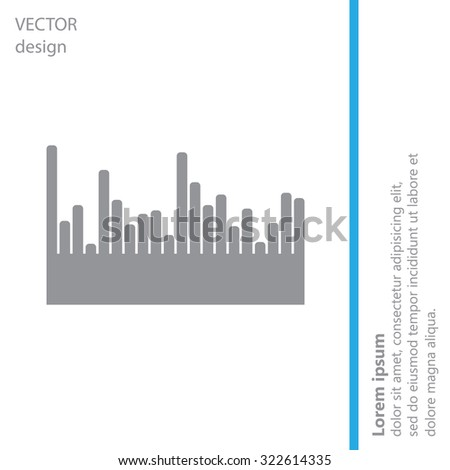 Vector sound wave. Audio equalizer technology, pulse musical. Vector illustration