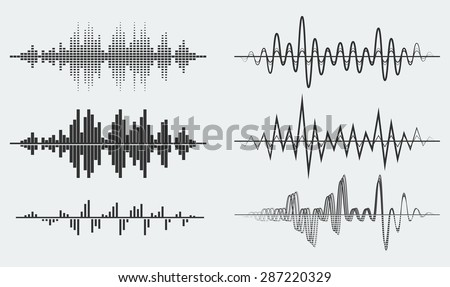 Vector sound waves - stock vector