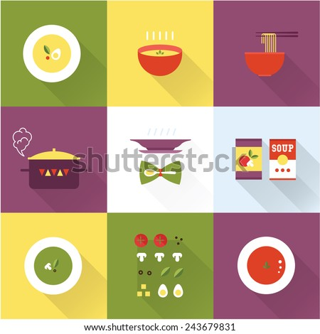 Vector soup icon - stock vector