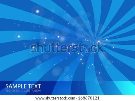 Vector space abstract burst illustration - Vector blue  design background illustration  - stock vector
