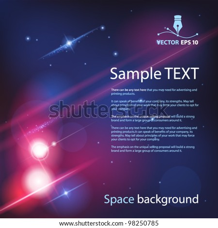 Vector space background for sample text - stock vector