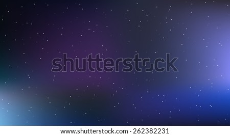 Vector space background  with stars - stock vector