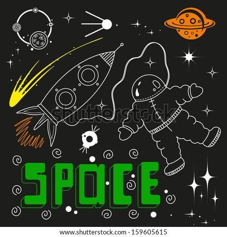 Vector space elements - stock vector