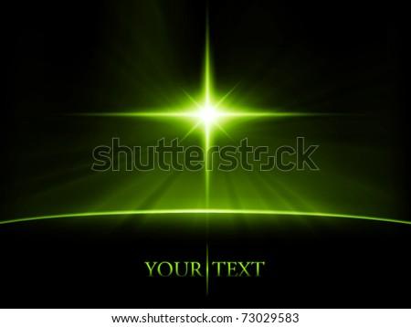 vector space scene - stock vector