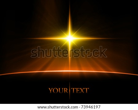 vector space scene - stock vector