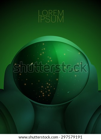 vector space suit illustration - stock vector
