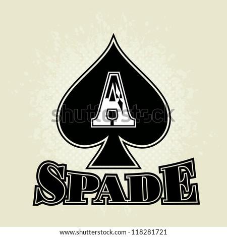 Vector Spade Ace - stock vector