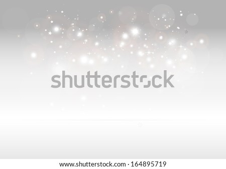 Vector sparks scene for design templates and backgrounds on reflective surface - Vector 3D sparkling background illustration - stock vector