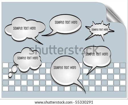 Vector speak bubbles - stock vector