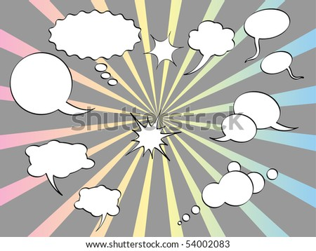 Vector speak bubbles.(Comics) - stock vector
