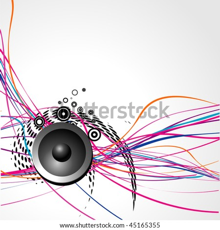vector speaker design with artistic lines
